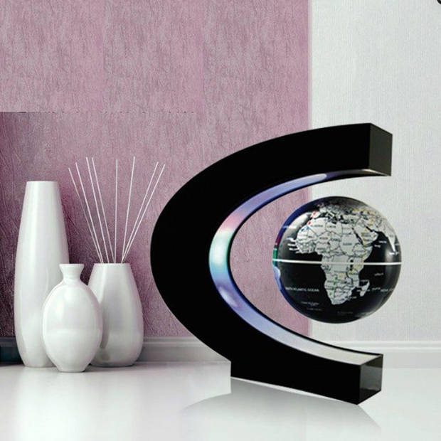 Magnetische Zwevende Wereldbol met LED verlichting
