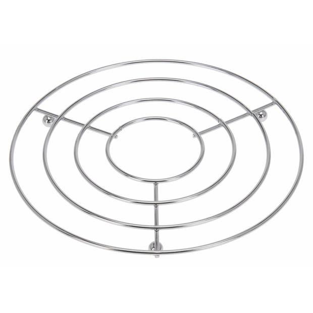 Pannen onderzetters rond roestvrijstaal 24 x 19 cm