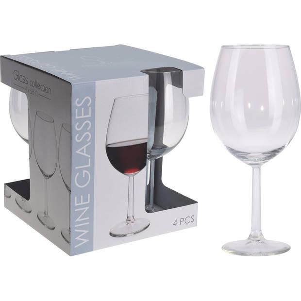 Wijnglazen set 580 ML 4 stuks