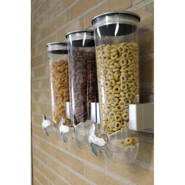 Drievoudige Cornflakes Dispenser voor aan de muur