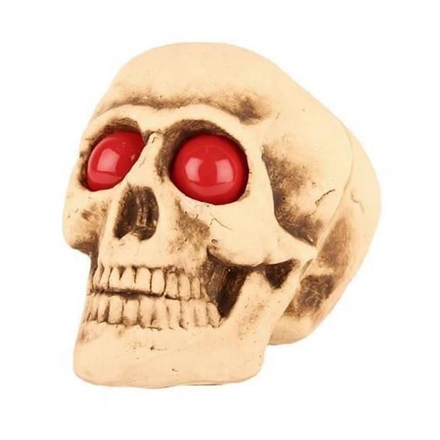 Decoratie halloween schedel met lichtgevende ogen