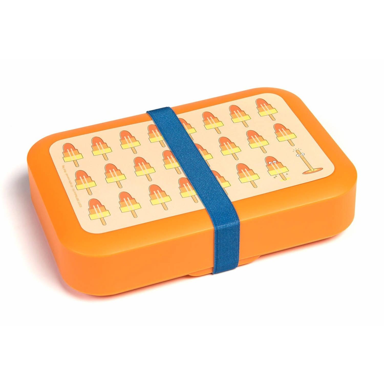 Afbeelding van Amuse Lunchbox met elastiek groot oranje 1,5 liter