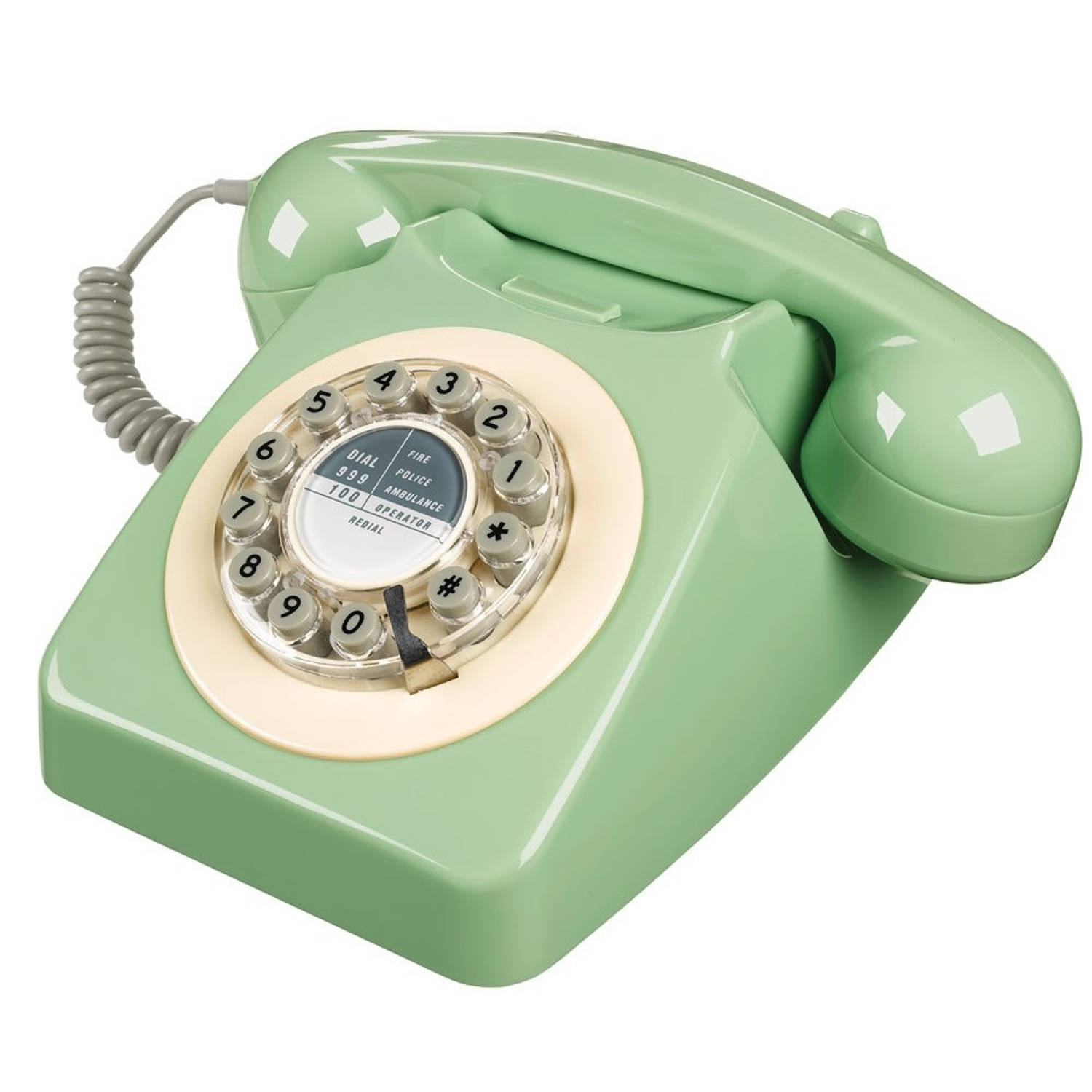Wild & Wolf 746 Retro Telefoon Swedish Green