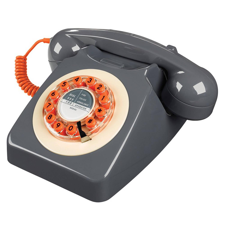 Wild & Wolf 746 Retro Telefoon Concrete Grey