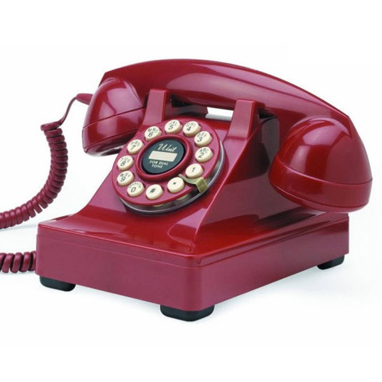 Wild & Wolf Serie 302 Rood Retro Telefoon