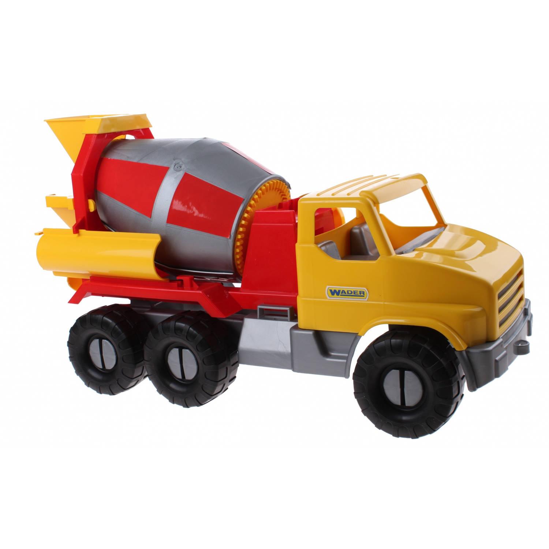 Afbeelding van Wader speelgoed Betonwagen geel 52 cm