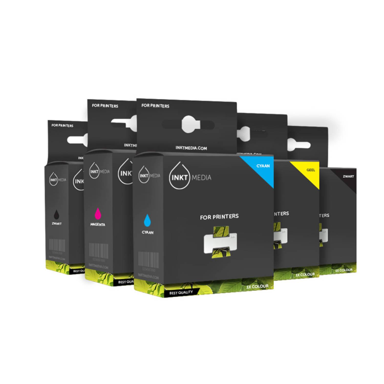 Inktmedia® - huismerk Epson 1x T3351 zwart 1x T3361 zwart 1x T3362 cyaan 1x T3363 magenta en 1x T3364 geel