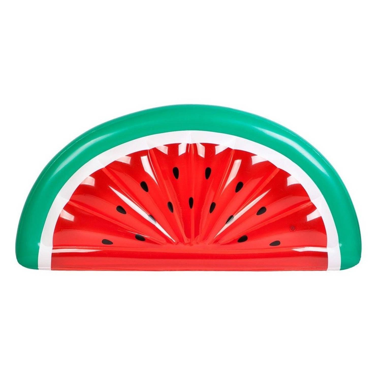 Swim Essentials Luchtbed halve watermeloen 185 x 89 cm rood