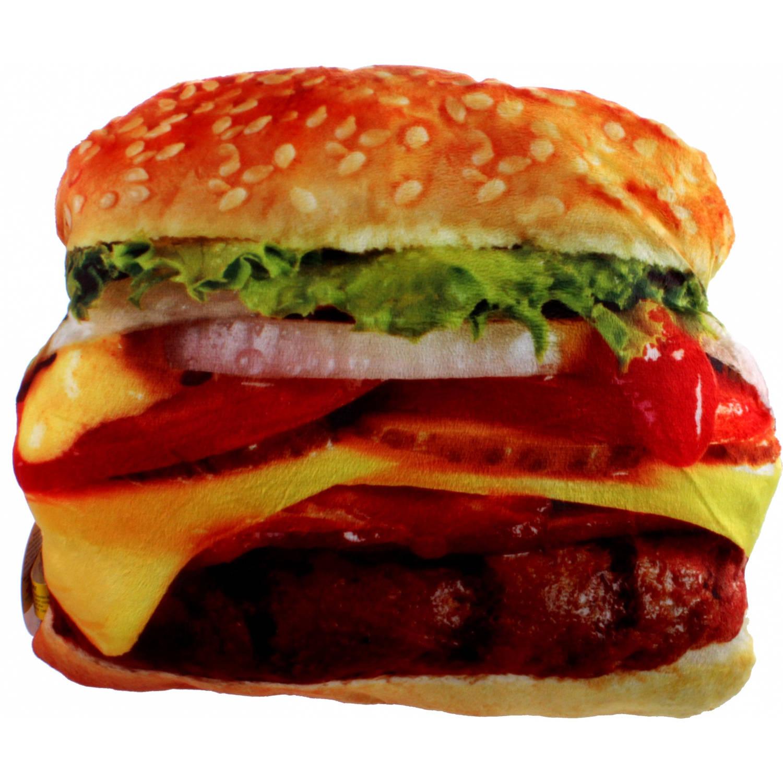 Kamparo kussen Fast Foodies burger 30 cm