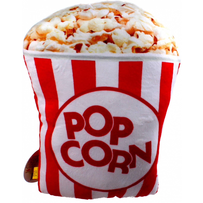 Kamparo kussen Fast Foodies popcorn 30 cm rood/wit