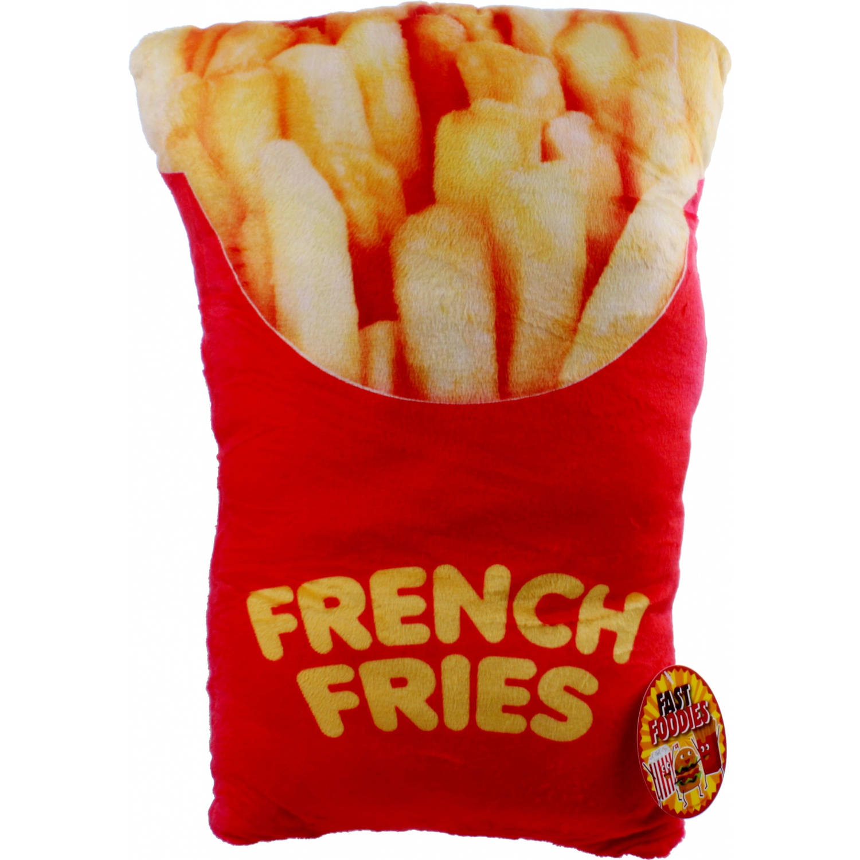 Kamparo kussen Fast Foodies frites 30 cm rood/geel
