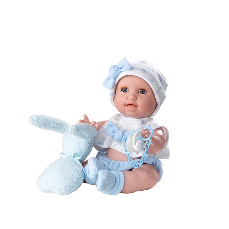 Berjuan levensechte pop Susu 38 cm blauw