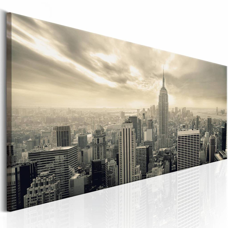 Schilderij - NY: Morning Sky - 150x50