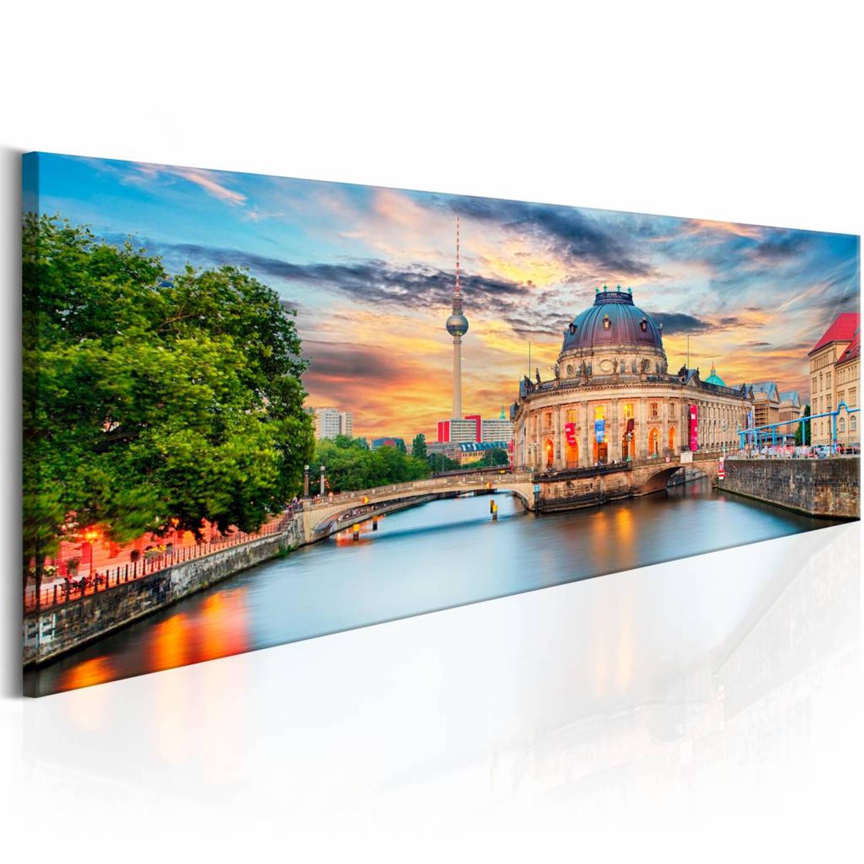 Schilderij - Berlin: Museum Island - 135x45