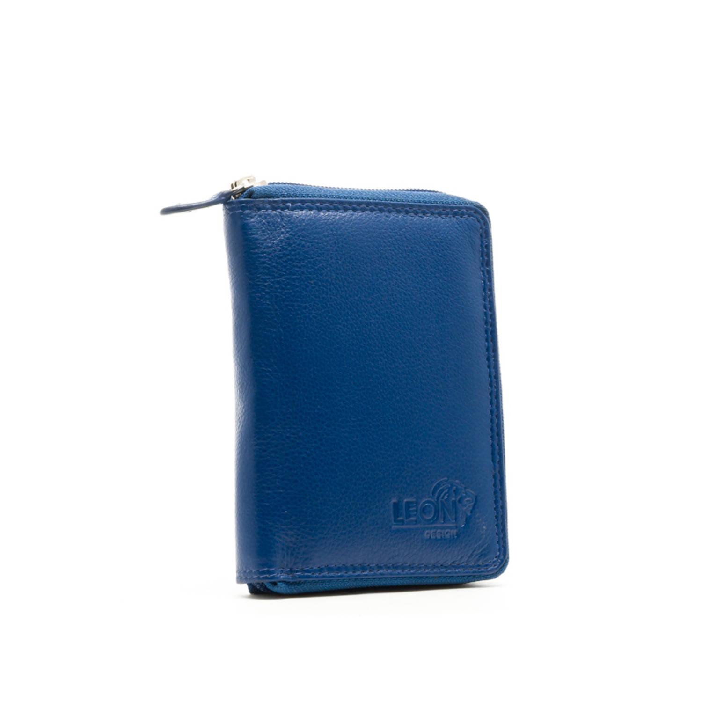 6fc43e45e63 LeonDesign 16-W8180-19 dames portemonnee koninklijk blauw leer