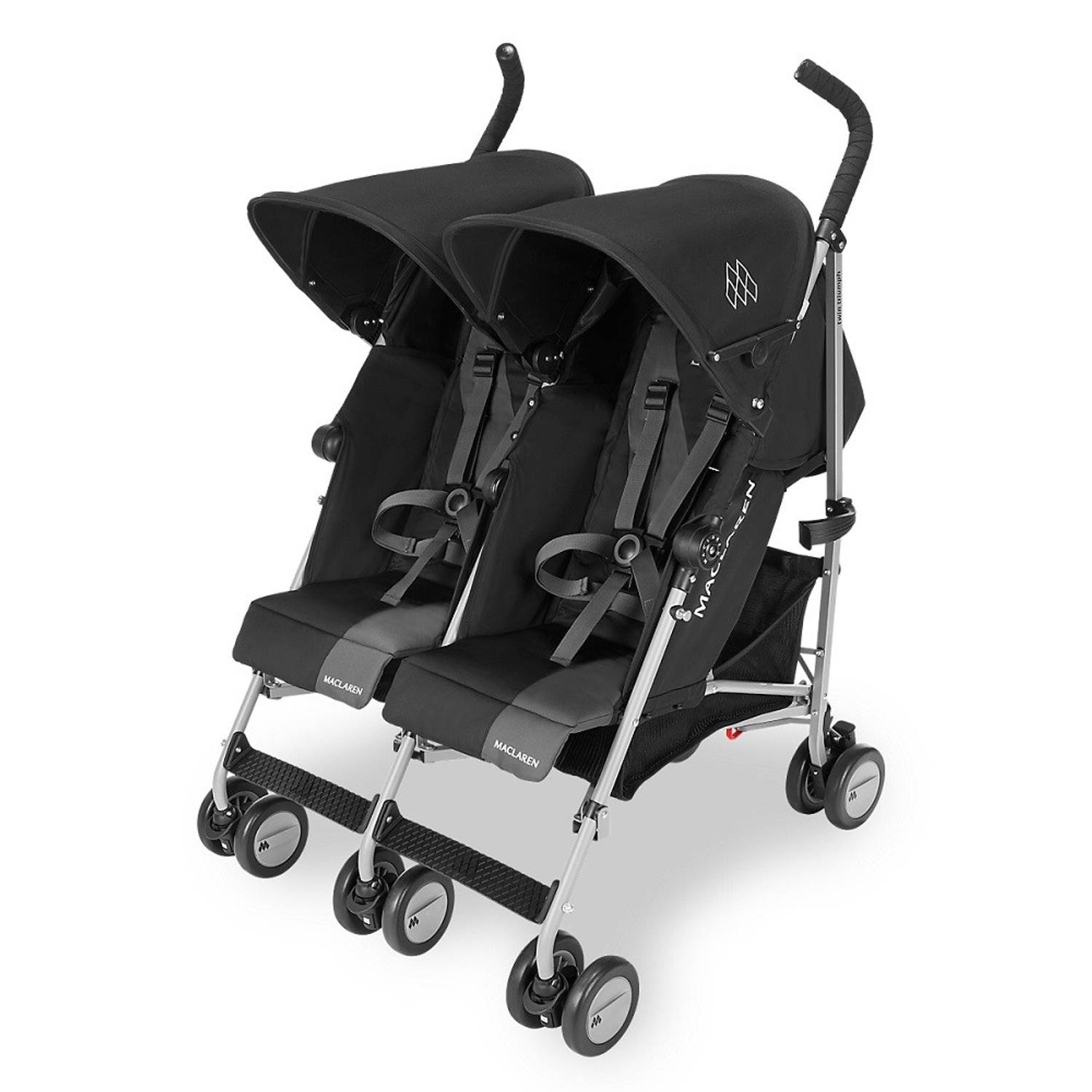 Maclaren Twin Triumph Black-Charcoal