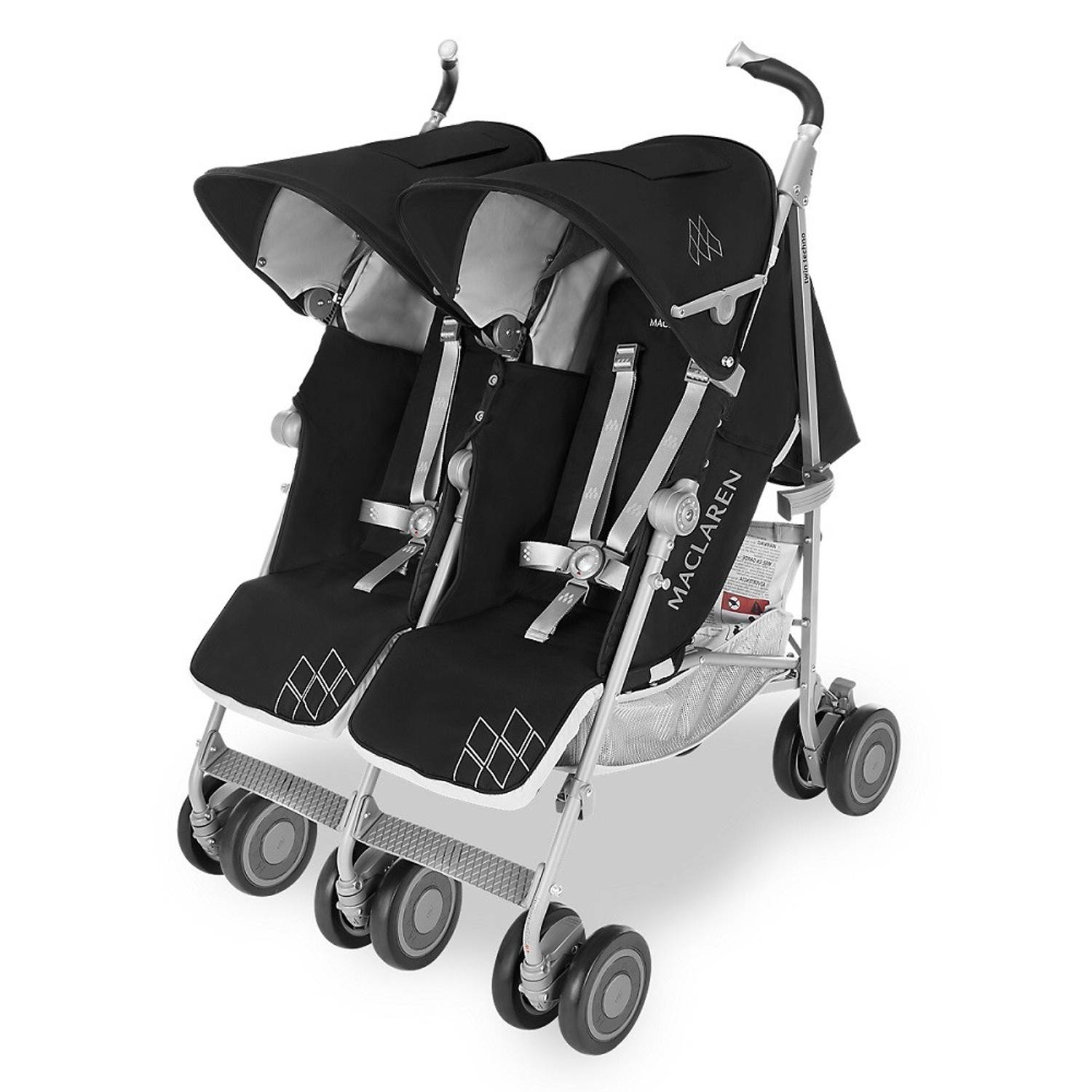 Maclaren Twin Techno Black-Silver