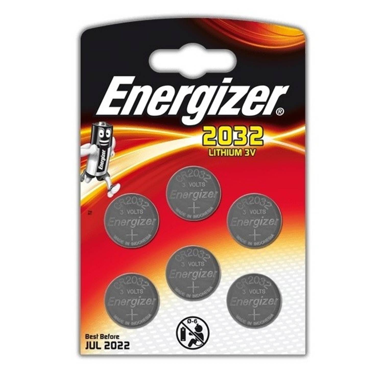 Energizer batterij knoopcel Lithium 3V CR2032 6 stuks
