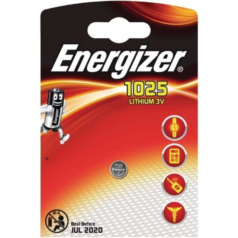 Energizer batterij knoopcel Lithium 3V CR1025 per stuk