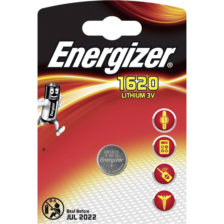 Energizer batterij knoopcel Lithium 3V CR1620per stuk