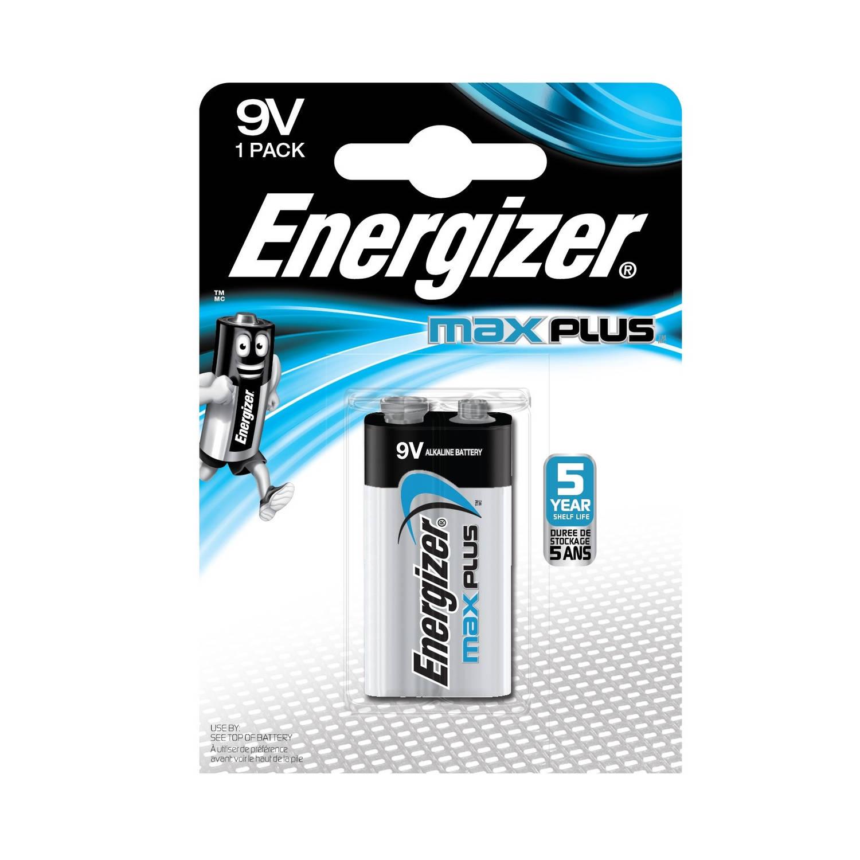 Energizer batterijen Max Plus 9V blok per stuk