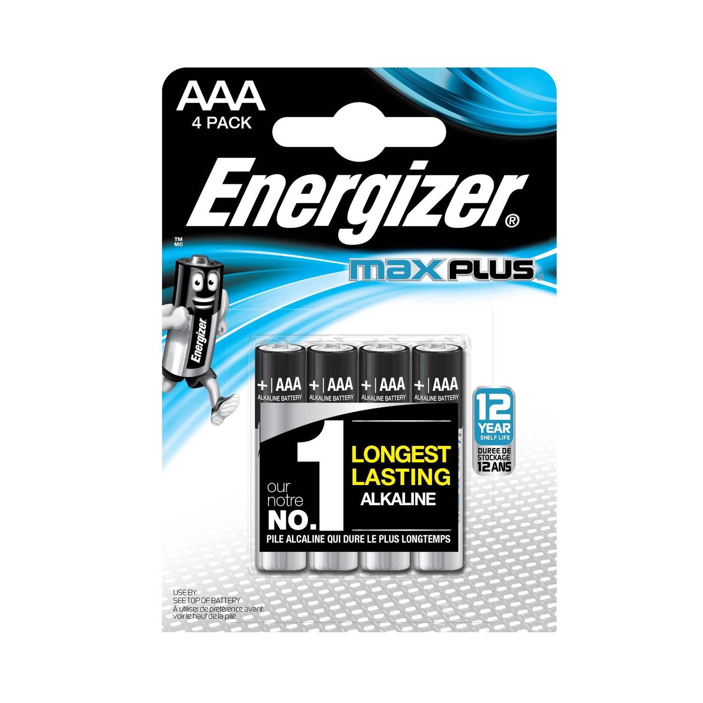 Energizer batterijen Max Plus AAA 4 stuks