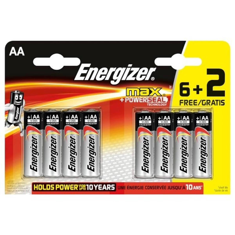 Energizer batterijen Max LR03 AAA 6+2 stuks
