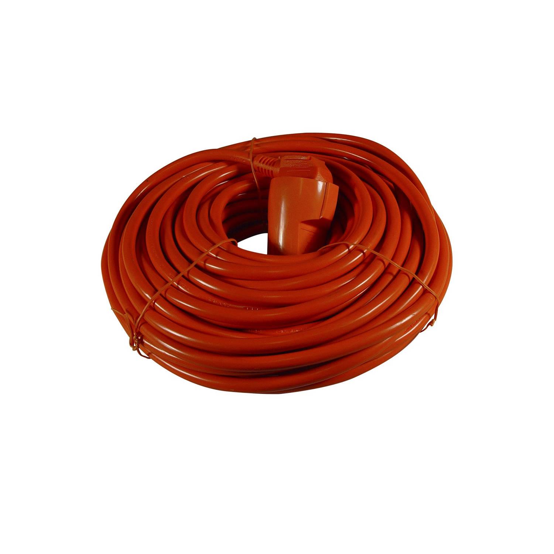 Calex Verlengsnoer 20 meter oranje