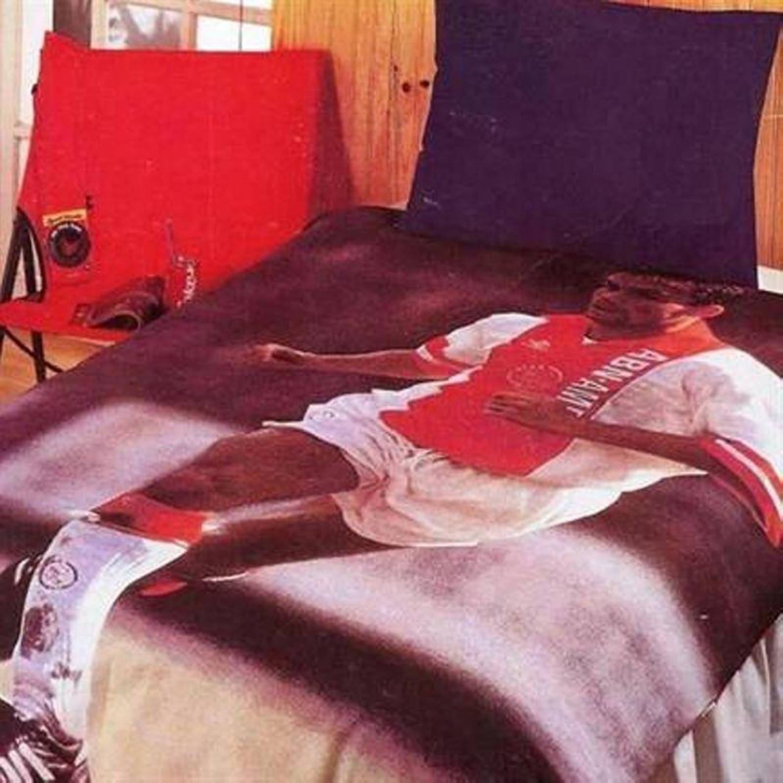 Afbeelding van Ajax dekbedovertrek - 100% katoen - 1-persoons (140x200 cm + 1 sloop) - 1 stuk (65x65 cm) - Rood