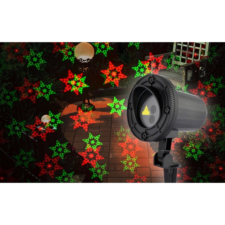 AmazerLaser! Laser spot rode/groene sterren/sneeuwvlokken