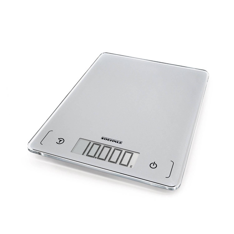 Korting Soehnle Page Comfort 300 Slim keukenweegschaal zilverkleurig