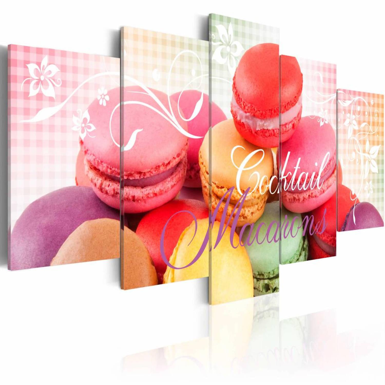 Schilderij - Sweet macarons - 200x100