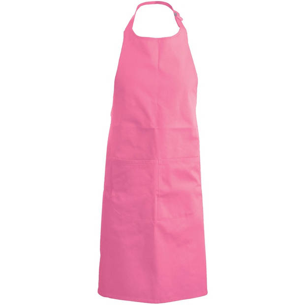 Basic schort kind roze - keukenschort/ kliederschort/ kookschort/ knutselschort/ kinderschort