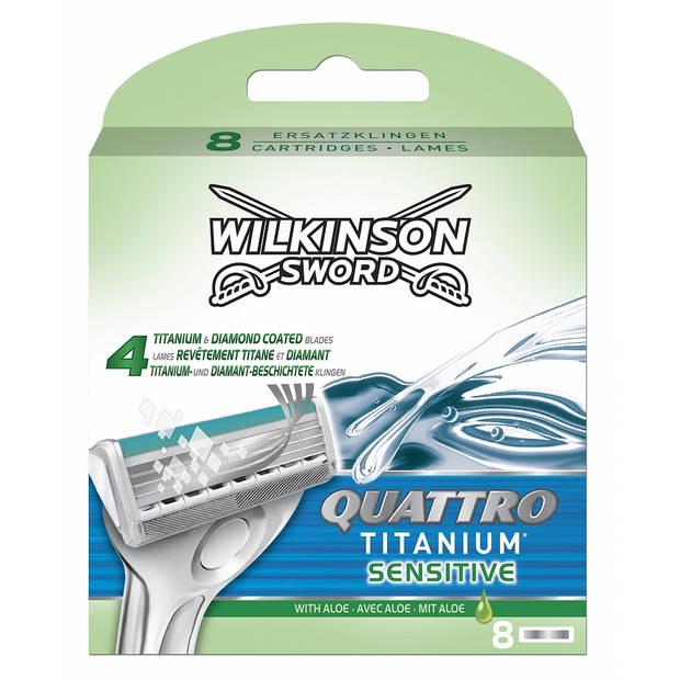 Wilkinson Quattro Titanium Sensitive Scheermesjes