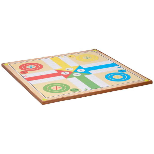Lifetime Games bordspel - 2-in-1: mens-erger-je-niet/ ladderspel - 2-4 personen - met pionnen en dobbelsteen