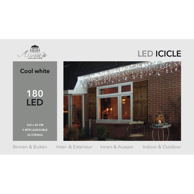 Ijspegelverlichting 180l/360x60cm led wit