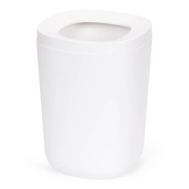 Blokker Prullenbak Plastic Wit