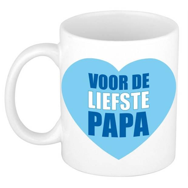 Vaderdag cadeau mok / beker - voor de liefste papa - 300 ml