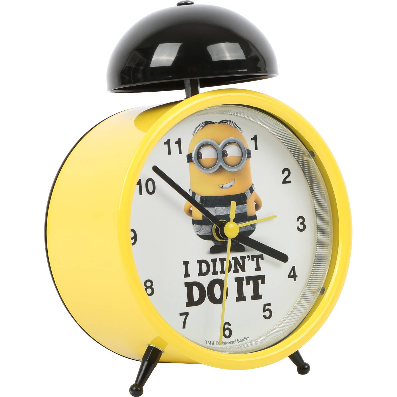 Universal Minions wekker geel 13 x 10 x 6.5 cm