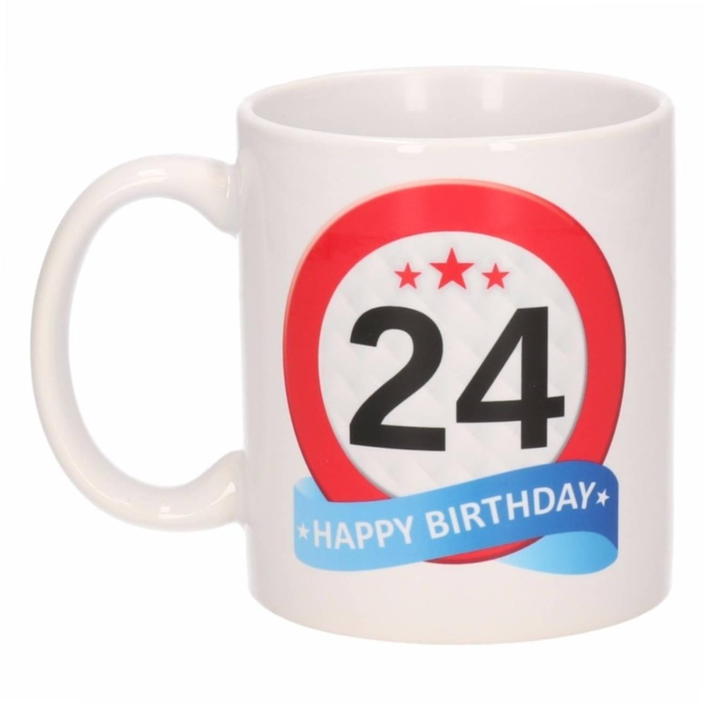 Verjaardag 24 Jaar Verkeersbord Mok Beker Blokker
