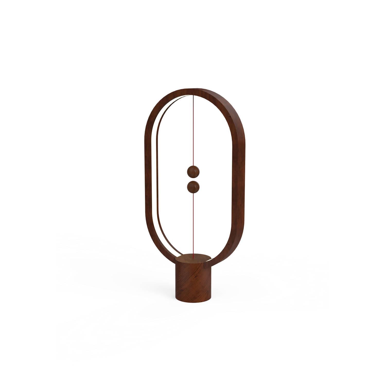 HENG Balance Lamp USB Elipse donker beuken