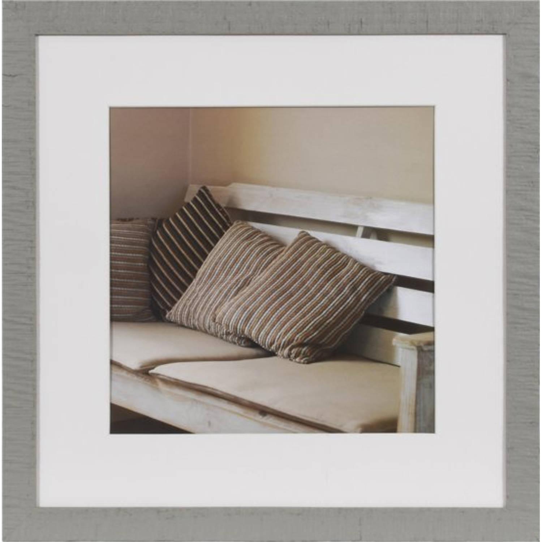Henzo driftwood fotolijst 40 x 40 cm / Fotoformaat 40 x 40 / 28 x 28 cm - Grijs
