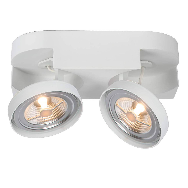 Lucide Versum AR111 Plafondspot LED Dimbaar - 2x10W 2700K - Wit