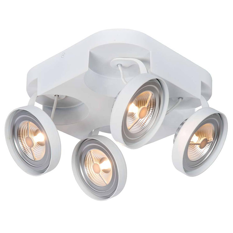 Lucide Versum AR111 Plafondspot LED Dimbaar - 4x10W 2700K - Wit
