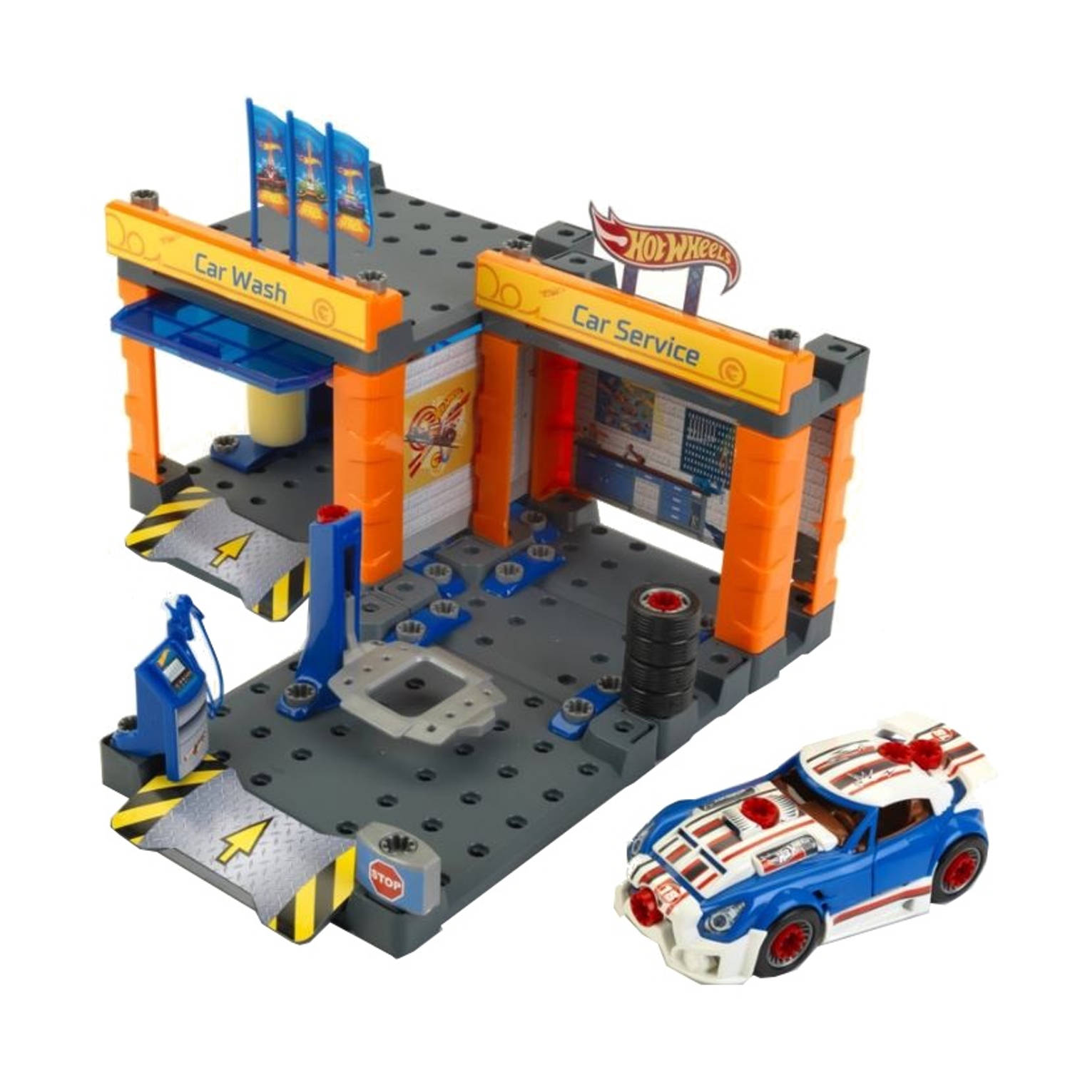 Klein hot wheels garage en carwash 30 x 40 cm