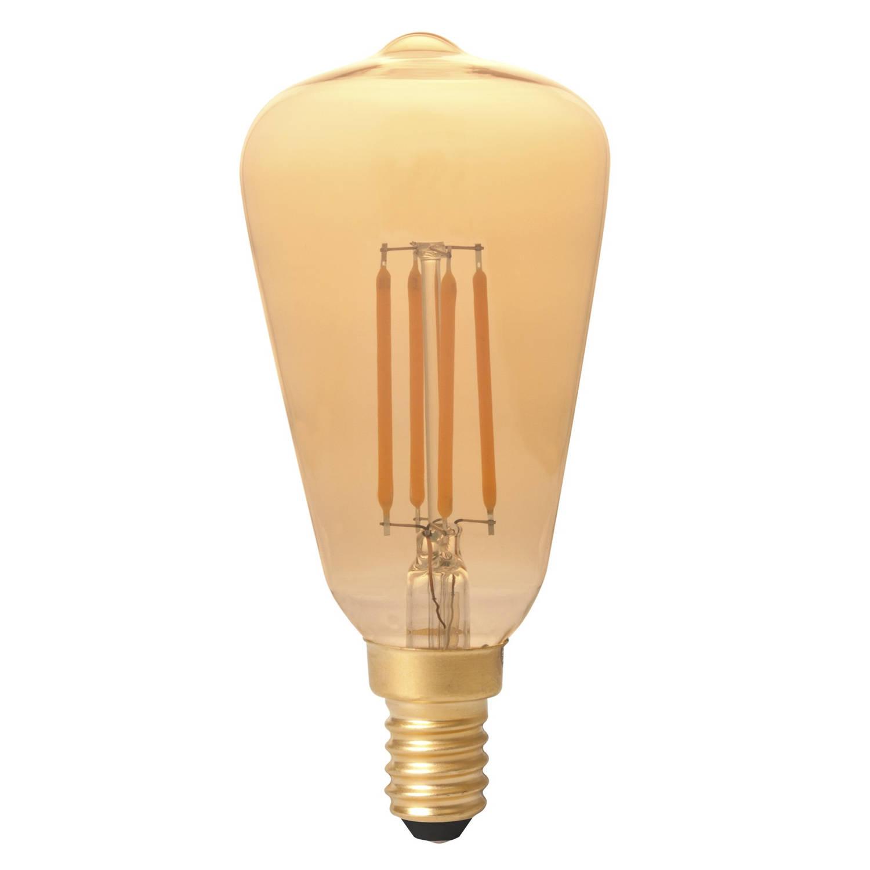 Calex LED Rustiek ST48 E14 4W 320lm Goud 2100K Dimbaar