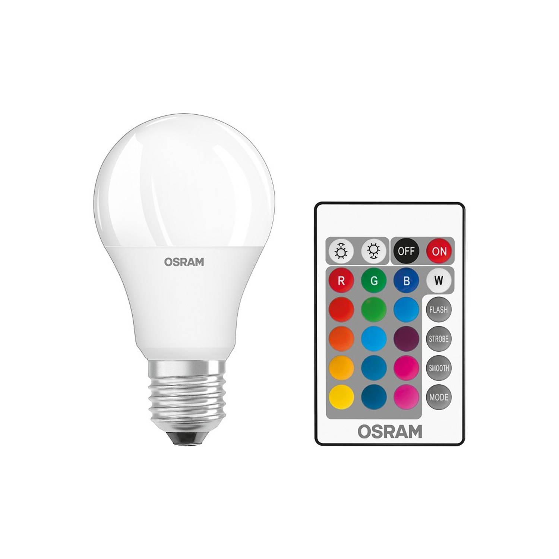 Osram LED lamp E27 9-60W/RGBW 806lm inclusief afstandsbediening