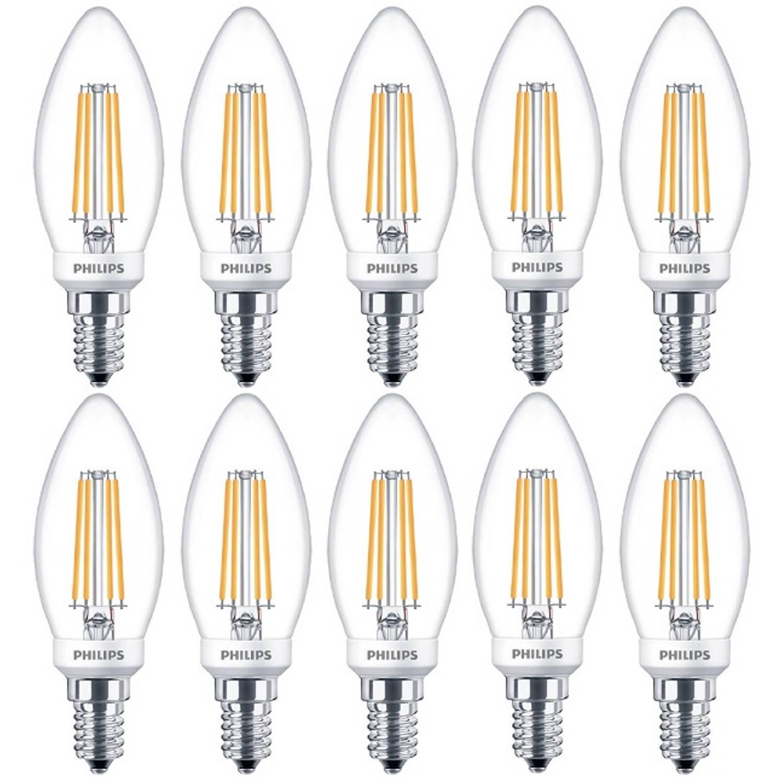 10 stuks - Philips LED Kaarslamp E14 5-40W 2700K 470lm Dimbaar