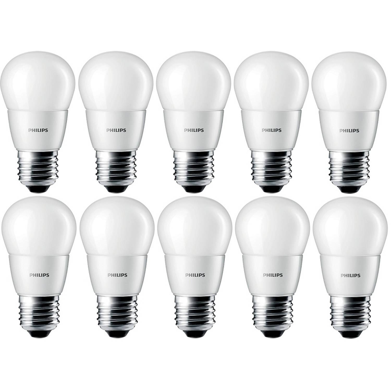 10 stuks - Philips LED Kogellamp E27 4-25W 2700K Mat 250lm 15.000uur