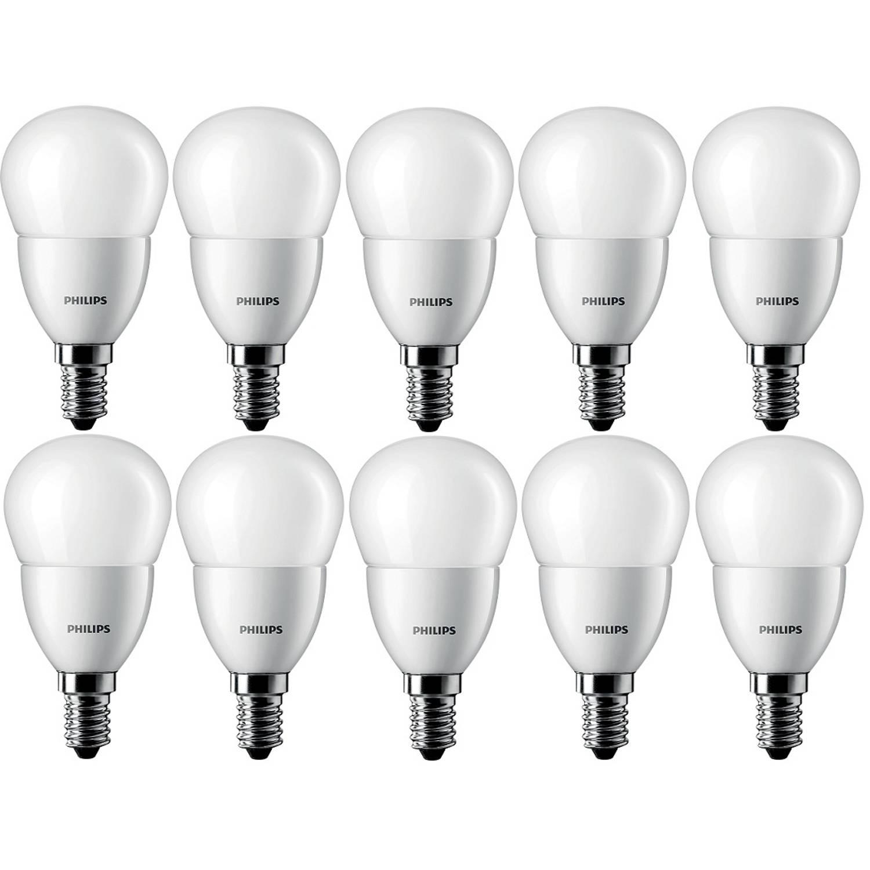 10 stuks - Philips LED Kogellamp E14 4-25W 2700K Mat 250lm